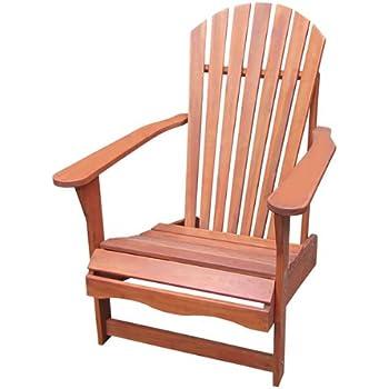 solid acacia teak adirondack chair ottoman foot rest oiled finish