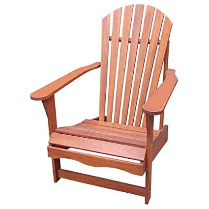 SOLID ACACIA / TEAK ADIRONDACK CHAIR + OTTOMAN / FOOT REST  *OILED* FINISH