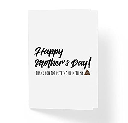 Amazon humor mothers day cards thank you for putting up humor mothers day cards thank you for putting up with my shit quote m4hsunfo