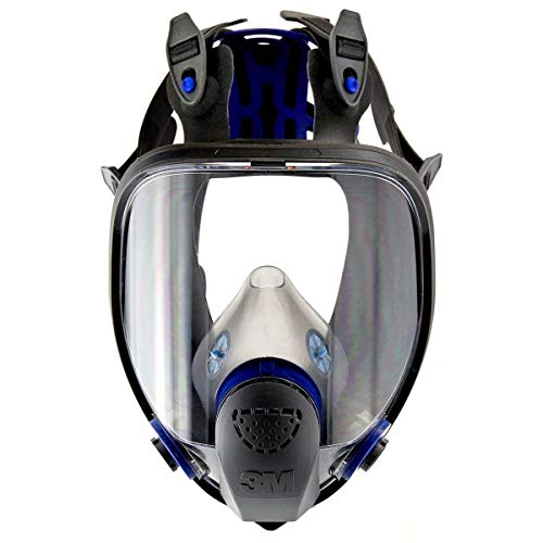 Full Connection - 3M FF-402 Medium Ultimate FX Full Face Reusable Respirator with Scotchgard Lens Coating and Bayonet Connection, Plastic, 9.9