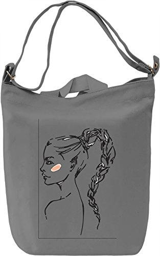 Girl with Cute Hairstyle Borsa Giornaliera Canvas Canvas Day Bag| 100% Premium Cotton Canvas| DTG Printing|