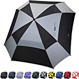 G4Free Extra Large Square Golf Umbrella 62 Inch Oversize Double Canopy Vented Umbrella Windproof Automatic Open Stick Umbrellas for Men Women