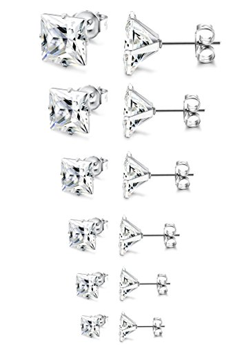 Besteel Womens Stainless Zirconia Earrings