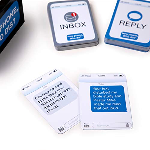 New Phone, Who Dis? – The 100% Offline Text Messaging Party Game – by What Do You Meme?
