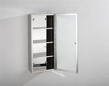 Palma 60 cm x 25 cm 1 Tür schmal Spiegel Badezimmer Hängeschrank ...
