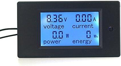 KETOTEK Amperímetro Digital DC 20A Voltímetro Medidor de potencia 6.5-100V Voltímetro Volt Amp Multímetro Pantalla LCD Probador de voltaje Voltio (DC 6.5-100V)