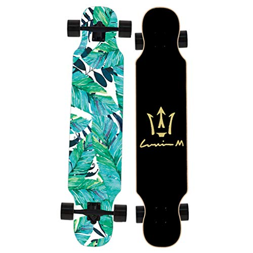 46 Inch Longboard - HYE-SPORT Skateboard Longboard Complete 42 Inch / 46 Inch for Dancing Freestyle Cruising Carving Soft Wheels for Beginners or Professional