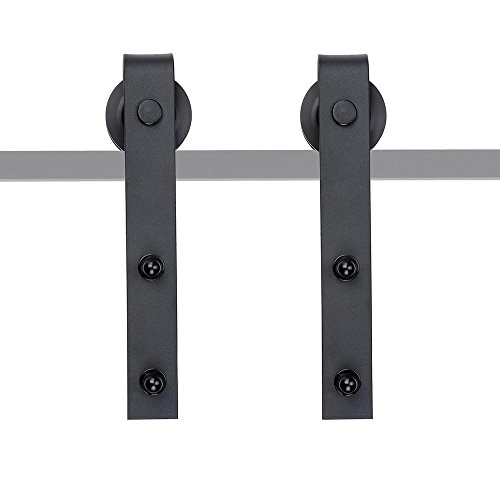 YesHom 2Pcs Steel Sliding Barn Roller Interior Wood Door Wheel Set Hardware Hangers Replacement Bracket I (Replacement Sliding Bracket)