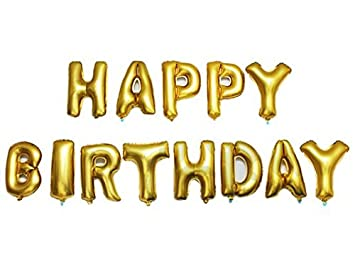 Amazon.com: Outgeek Happy Birthday Balloons Banner ,Foil Balloons ...