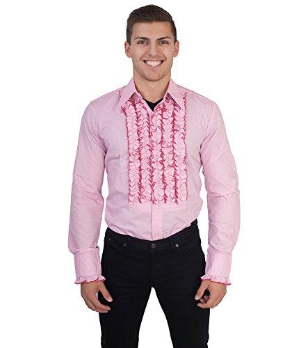 Uomo Lunga Camicia Rosa Manica Chenaski tFzqR