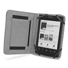 Cover-Up Sony Reader PRS-T1 / PRS-T2 eReader Book Grip Leather Cover Case - Black