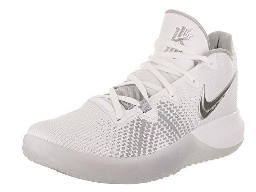 NIKE Men's Kyrie Flytrap Basketball Shoes (13, White/Silver)