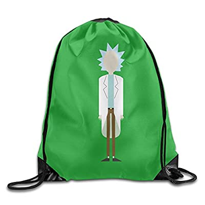 Unisex Rick Sanchez And Morty Drawstring Bag Drawstring Backpack Sport Bag Gym Bag 100% Polyester Material Travel Bag For Men Women
