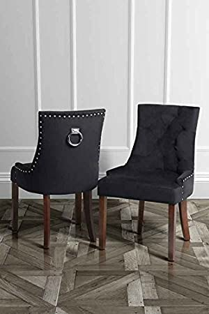 MY Furniture High Quality Upholstered Scoop Back Dining Chair with