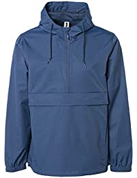 d87732de4 Men's Hooded Raincoat Waterproof Jacket Zip Up Windbreaker Anorak