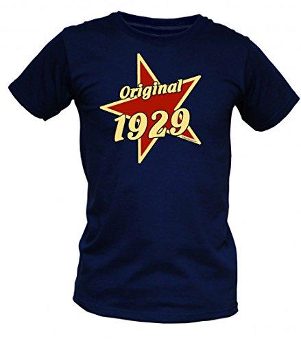 Birthday Shirt - Original 1929 - Lustiges T-Shirt als Geschenk zum Geburtstag - Blau