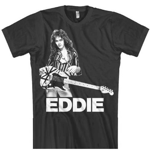Eddie Van Halen Guitar Photo Soft Fit T-Shirt