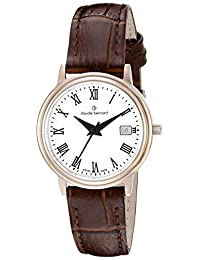 Claude Bernard Women's 54005 37R BR Classic Ladies Analog Display Swiss Quartz Brown Watch