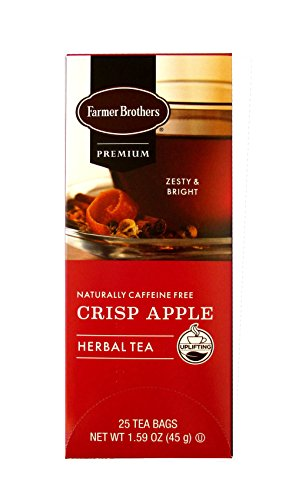 - Farmer Brothers – Crisp Apple Herbal Tea – 25 Bags