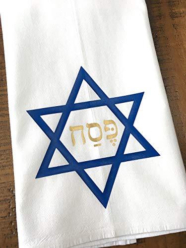Passover Decorations - Passover Kitchen Towel Star of David