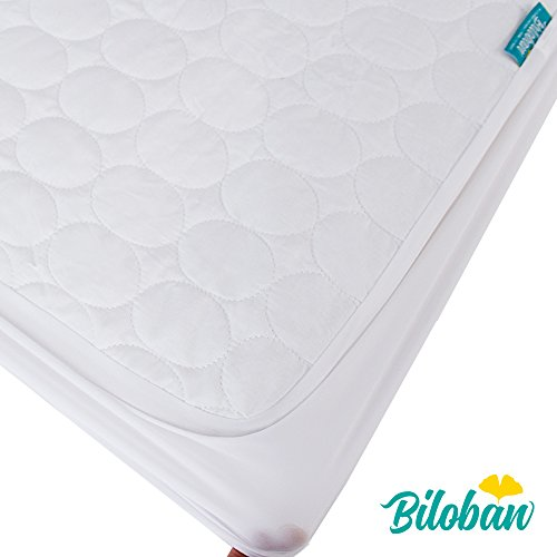 Pack N Play Sheet and Mattress Pad - Cool Comfort Cotton Surface, 100% Waterproof, 39