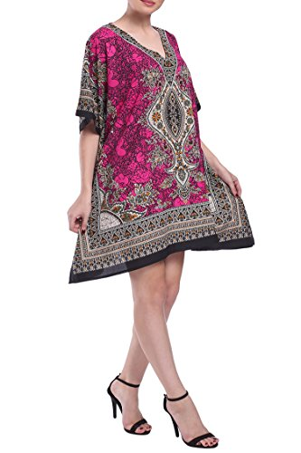 3028eae031c Miss Lavish Women s Kaftan Tunic Kimono Dress Summer Evening Plus Size  Beach Cover Up 10-