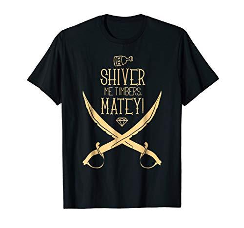 Shiver Me Timbers Matey Girls Pirate Costume ()