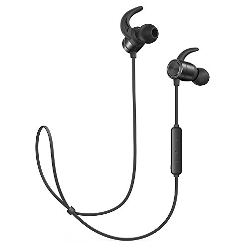 Price comparison product image Wireless Headphones TaoTronics Bluetooth Earphones Sport Earbuds In Ear Headset Sweatproof for Running (9 Hours Playtime, Bluetooth 4.2, IPX6, Magnetic, Noise Cancelling Mic)