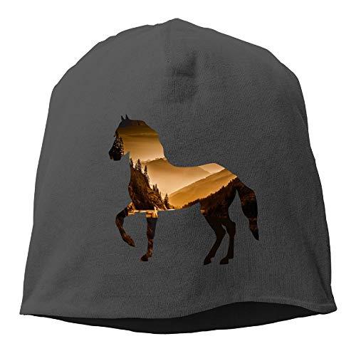 Arsmt Skull Beanie Hats Horse Mountain Forest Unisex Warm Cuff Watch Cap ()