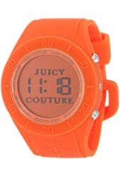 Juicy Couture Women's 1900883 Sport Couture Digital Orange Jelly Strap Watch