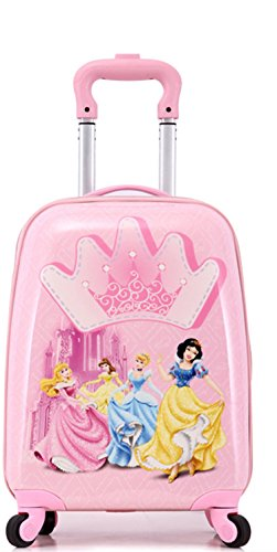 Baby Station 18 inch Kids Polycarbonate 4 Wheel Childrens Luggage  Princess
