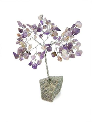 Beverly Oaks Healing Crystals Bonsai Tree ~All Natural Gemstone Tree ~ Money Tree Featuring Healing Stones (Amethyst)