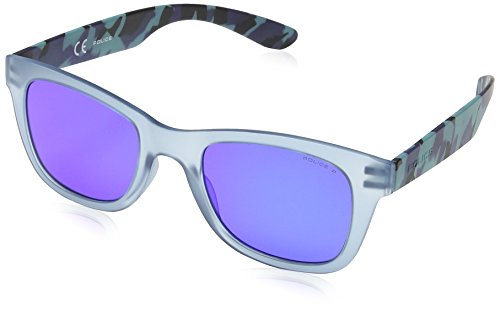Exchange Blue Mirror 1 amp; Transparent 1 Police Pale soleil Violet Frame Lens Grey de Blue Exchange Blue Mixte Camouflage Wayfarer Lunette gIwIHPqt