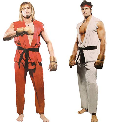 Street Fighter Game Ken Ryu Halloween Party Costumes for Man Adult