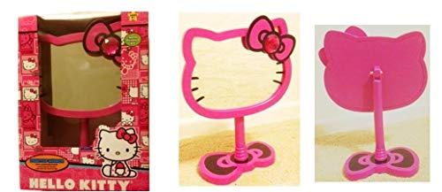 SANRIO Hello Kitty Wooden Desktop Mirror with Pink Rhinestone