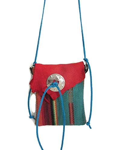 345472e8af Amazon.com  Medicine Bag Native American Style Necklace Handmade Cotton Red  Leather  Handmade