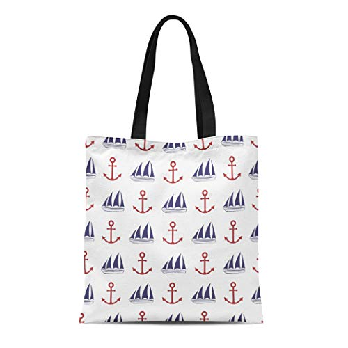 - Semtomn Canvas Tote Bag Shoulder Bags Boy Navy Anchorage Nautical Anchor and Ship Boat Buoy Women's Handle Shoulder Tote Shopper Handbag