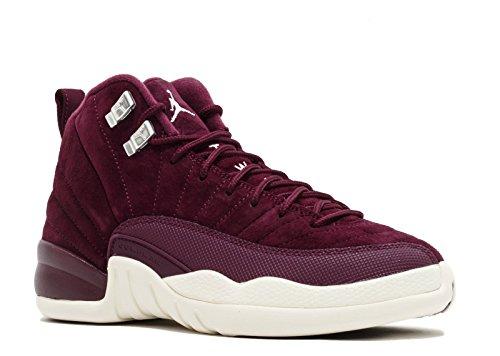 Nike Air Jordan 12 Retro Bordeaux G.S Youth Big Kids Bordeaux/Metallic Silver/Sail 153265-617 (5.5) by Jordan