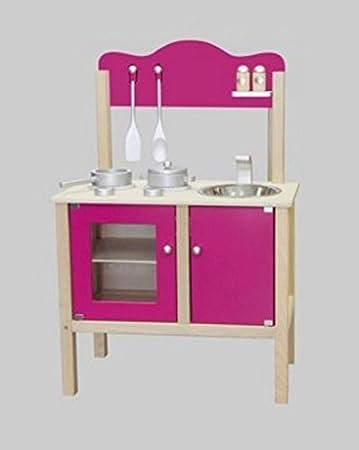 Unbekannt Combi-Küche / Kinderküche in pink mit Zubehör aus ...