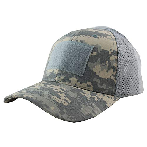 HEWPASKE Summer Breathable Mesh Tactical Army Cap Badge Patch Camo Hats for Men Women Desert Digital ACU Camouflage