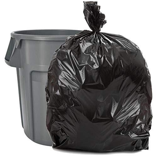 Plasticplace Black 40-45 Gallon Trash Bag, 40x46, 1.5