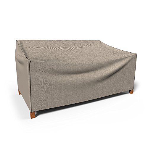 Budge English Garden Outdoor Patio Loveseat Cover Small Tan Import It All