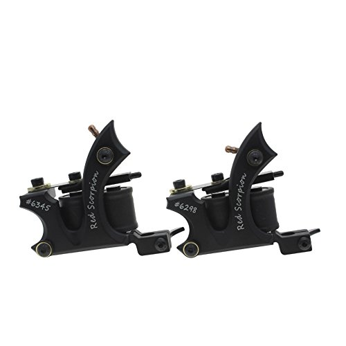 Coil Tattoo Machine Alloy Frame Tattoo Machine Tattoo Guns Set for Liner and Shader from Redscorpion(pack of 2)
