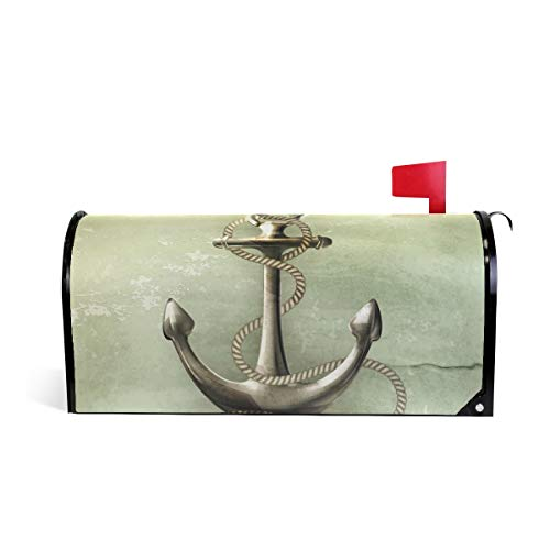 Naanle Nautical Anchor Magnetic Mailbox Cover, Sea Anchor Ma