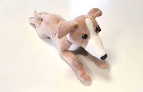 Beautiful Fawn Greyhound Soft Toy - Faith 40cm - Limited Edition by Helpful Hounds (Greyhound Stuffed Animal)