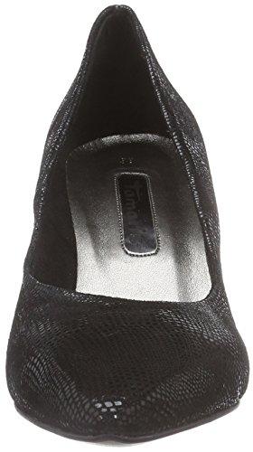 Tamaris 22450 - zapatos de tacón cerrados de cuero mujer negro - negro