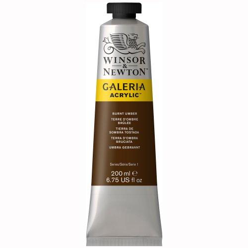 Burnt Umber Oil - Winsor & Newton 2136076 Acrylic Color Tube, 200-ml, Burnt Umber