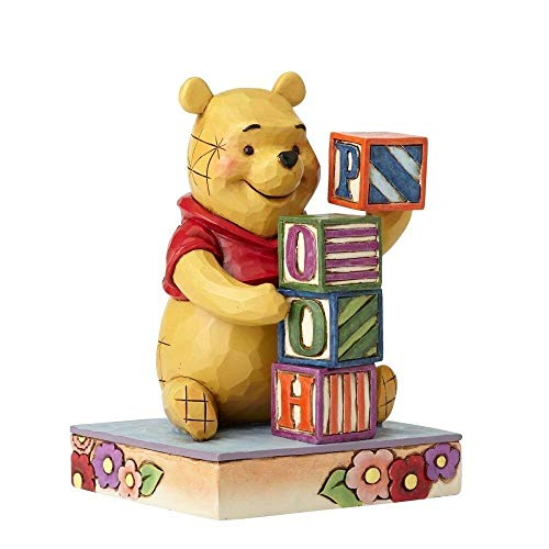 Jim Shore Disney Traditions Pooh with Baby Blocks Figurine