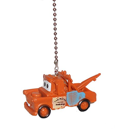 Disney classic CARS movie assorted Character Ceiling FAN PULL light chain (Towmater) by Knight
