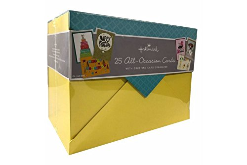 Hallmark 25 All-Occasion Cards with Greeting Card Organizer by Hallmark
